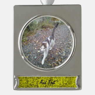 Yellow Grass Silver Plated Banner Ornament