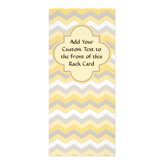 Yellow/Gray Chevron Zigzag Rack Card