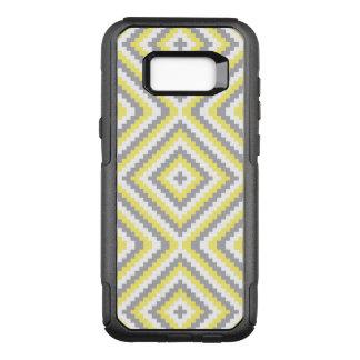 Yellow Gray Design OtterBox Commuter Samsung Galaxy S8+ Case