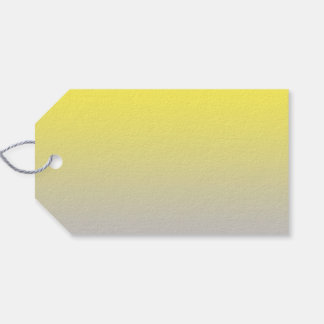 Yellow & Gray Ombre Gift Tags