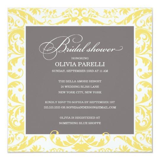 YELLOW & GRAY SHOWER | BRIDAL SHOWER INVITE