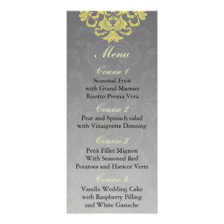 """yellow gray""  Wedding menu"