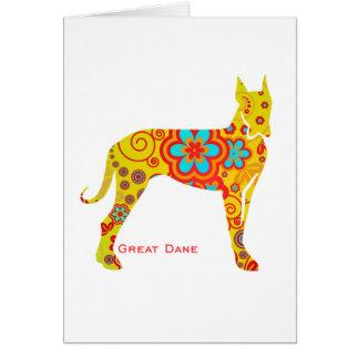 Yellow Great Dane Card