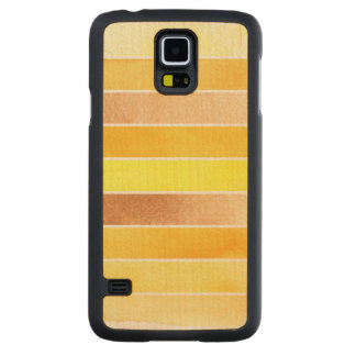 yellow great watercolor background - watercolor carved maple galaxy s5 case