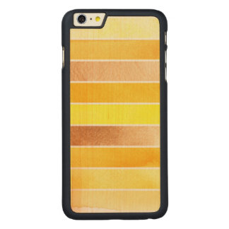 yellow great watercolor background - watercolor carved maple iPhone 6 plus case