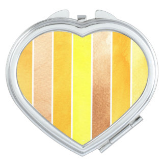 yellow great watercolor background - watercolor compact mirror