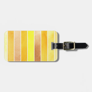 yellow great watercolor background - watercolor luggage tag