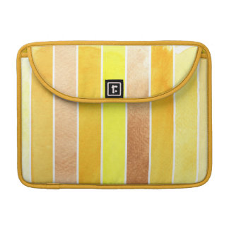 yellow great watercolor background - watercolor MacBook pro sleeve