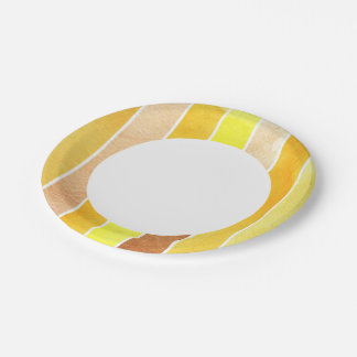 yellow great watercolor background - watercolor paper plate