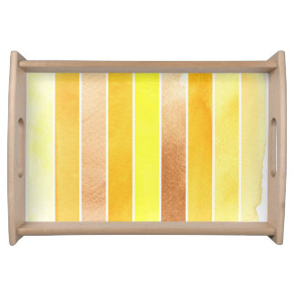 yellow great watercolor background - watercolor serving tray
