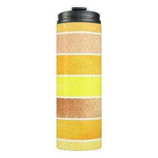 yellow great watercolor background - watercolor thermal tumbler