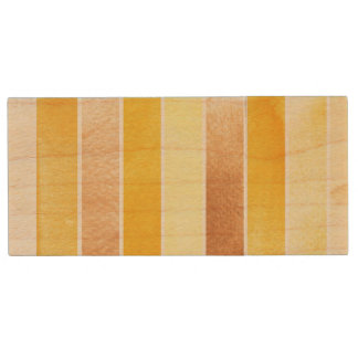 yellow great watercolor background - watercolor wood USB 2.0 flash drive