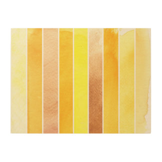 yellow great watercolor background - watercolor wood wall art