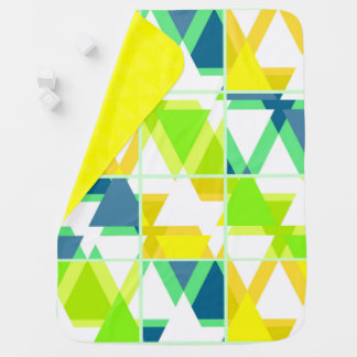Yellow green abstract baby blanket