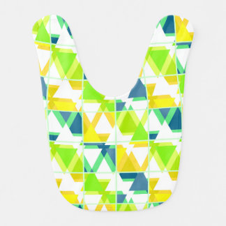 Yellow green abstract bib