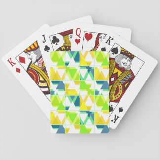 Yellow green abstract playing cards