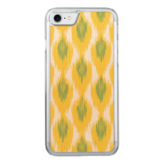 Yellow Green Abstract Tribal Ikat Diamond Pattern Carved iPhone 8/7 Case