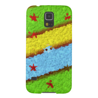 Yellow, Green and Blue Flowers with a Surprise Cases For Galaxy S5
