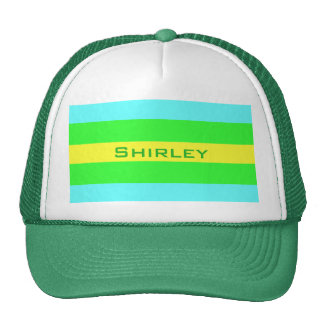 Yellow Green and Blue Wide Stripes Cap