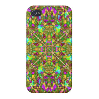 Yellow Green and Pink Mandala Pattern Case For iPhone 4