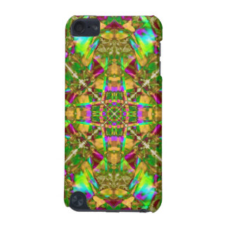 Yellow Green and Pink Mandala Pattern iPod Touch 5G Covers