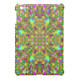 Yellow Green and Pink Mandala Pern Case For The iPad Mini