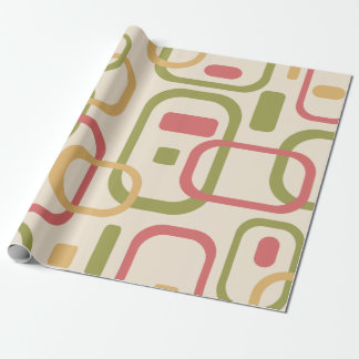 Yellow, green and pink rectangles wrapping paper