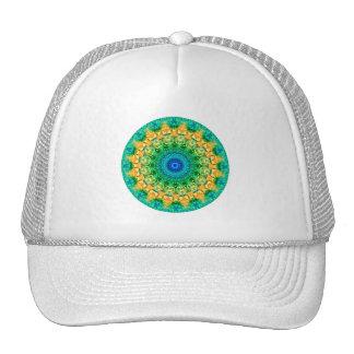 """Yellow, Green & Blue """"Seasons: Summer"""" Mandala Cap"""