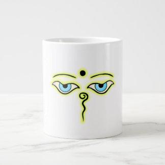 Yellow Green Buddha Eyes png Extra Large Mug