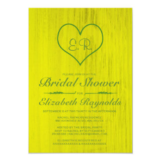 Yellow & Green Country Bridal Shower Invitations