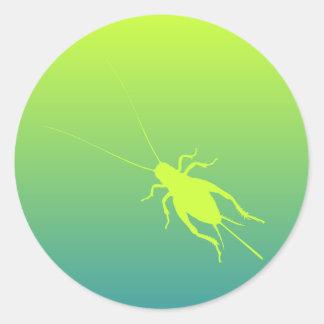 Yellow Green Cricket Classic Round Sticker