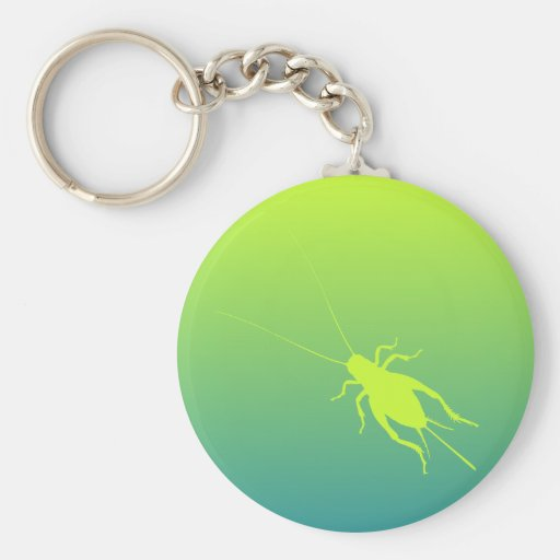 Yellow Green Cricket Key Chains