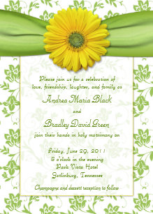 yellow and green wedding invitations zazzle co uk