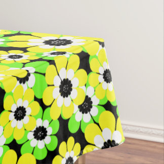 Yellow green flowers , flowers , floral pattern , tablecloth