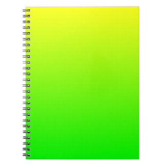 Yellow Green Gradient Note Books