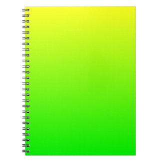 Yellow Green Gradient Notebooks