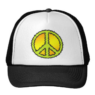 Yellow Green Peace Sign Hat