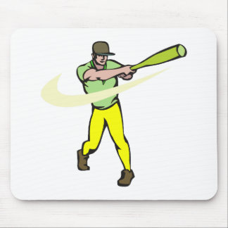 yellow green player mouse pad