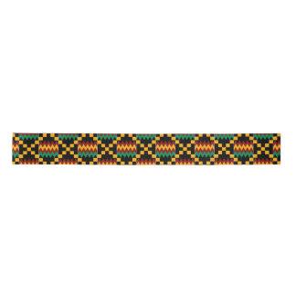 Yellow, Green, Red, Black Kente Satin Ribbon