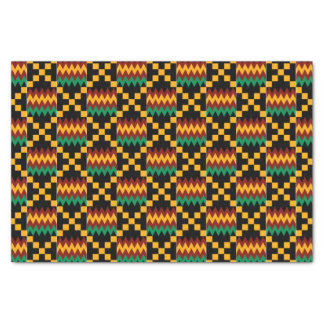 Yellow, Green, Red, Black Kwanzaa Kente Cloth Tissue Paper