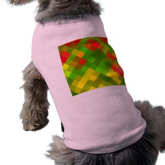 Yellow Green Red Patterns Geometric Designs Color Sleeveless Dog Shirt