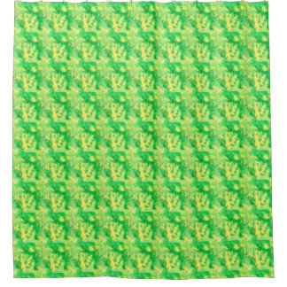 Yellow Green Shower Curtain