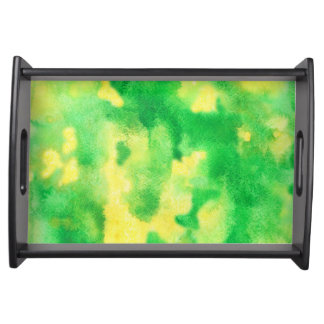 Yellow-green small serving tray