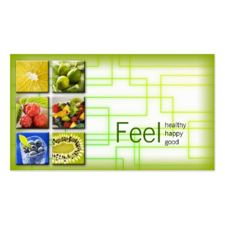 Yellow Green Square Healthy Life/Nutritionist Card Pack Of Standard Business Cards