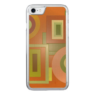 Yellow Green Squares Circles Carved iPhone 8/7 Case