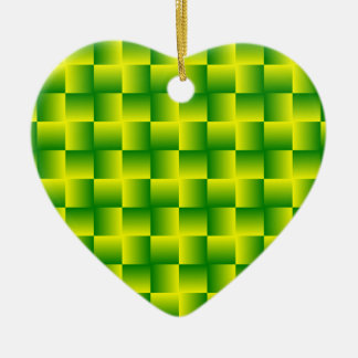 Yellow-green squares ornament