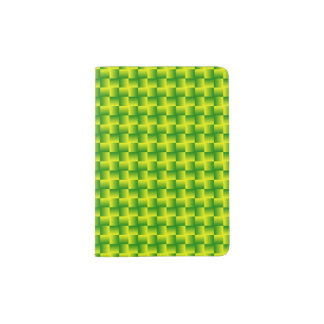 Yellow-green squares passport holder