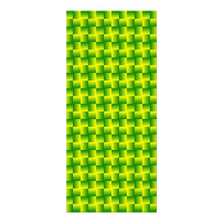 Yellow-green squares rack card