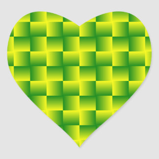 Yellow-green squares sticker