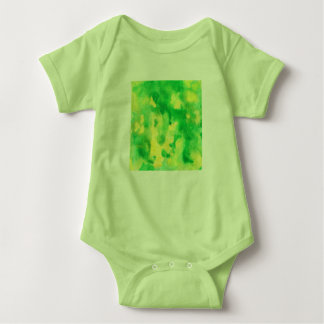 Yellow Green Watercolor Baby Jersey Bodysuit